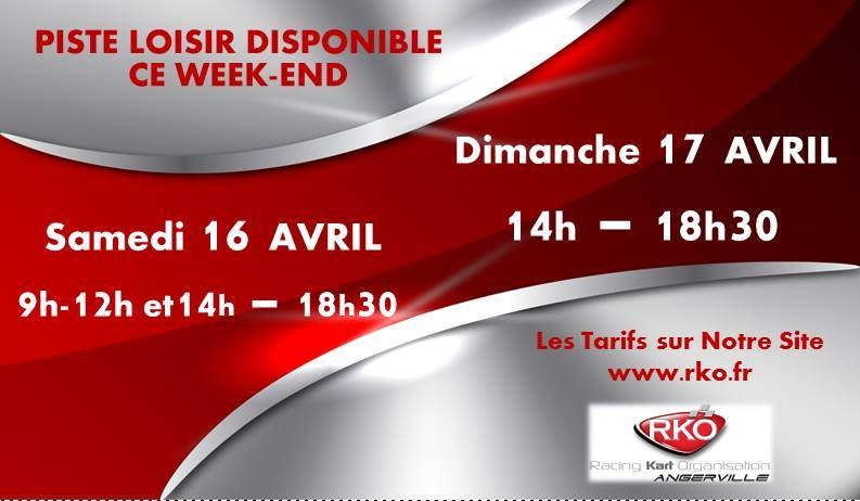 LOC DISPO WEEK END 16 et 17 Avril facebook